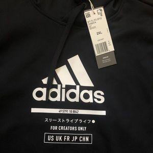 Men's Black Adidas Hoodie 2XL NWT